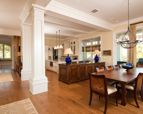 Example Of A Large Classic Medium Tone Wood Floor Great Room Design In  Charleston With Yellow