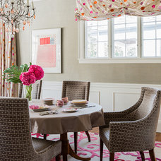 Transitional Dining Room by Jill Litner Kaplan Interiors