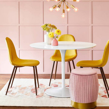 Our Statement Yellow & Pink Dining Room Furniture Collection