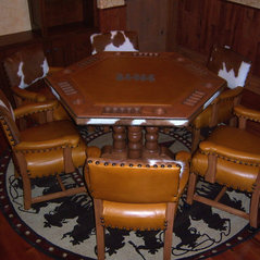 Cowhide western furniture denton tx us 76207 for Western dining room tables