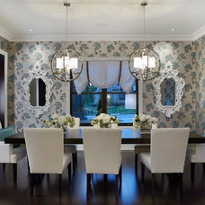 Transitional Dining Room by Cunningham Custom Homes