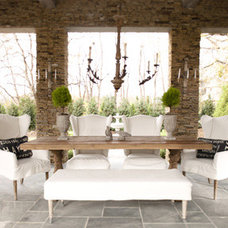 Eclectic Dining Room Outdoor dining