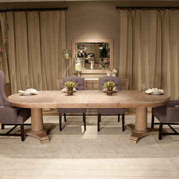 Oval Extension Dining Room Design