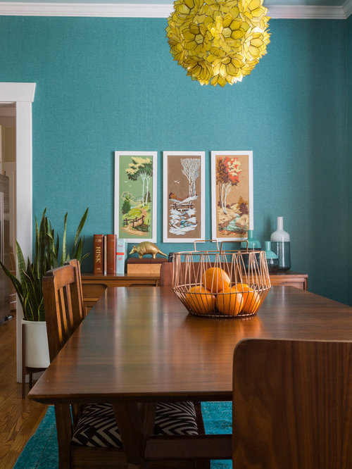 Small turquoise dining room design ideas renovations photos for Dining room 56 willoughby street