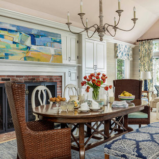 Transitional dining room photo in Boston
