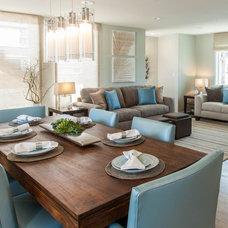 Contemporary Dining Room by Lilium Designs