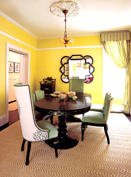 Eclectic Dining Room by Kendall Wilkinson Design
