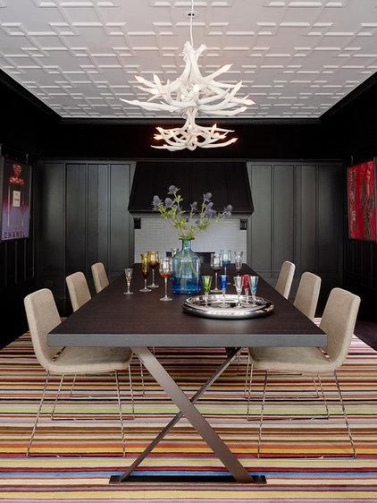 Transitional Dining Room by John K. Anderson Design