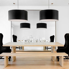 modern dining room by Nicole Hollis