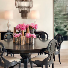 Eclectic Dining Room by Green Couch Interior Design