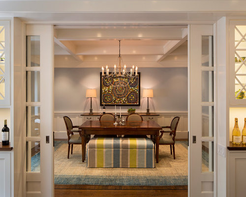 houzz dining room pocket door design ideas remodel pictures