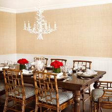 Traditional Dining Room by Leslie L. Hunt Interior Design