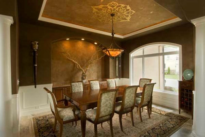Traditional Dining Room by Allemand Designs/Kirkland Painting Company