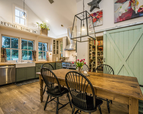 Paleface Ranch Farmhouse Kitchen Austin By Van Wicklen Design