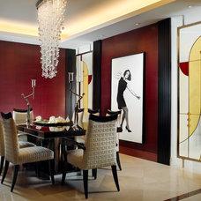 Contemporary Dining Room by alene workman interior design, inc