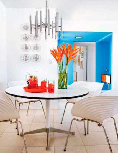 Modern Dining Room palm springs dining room