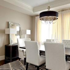 Contemporary Dining Room by Caroline Burke Designs & Associates, Inc.