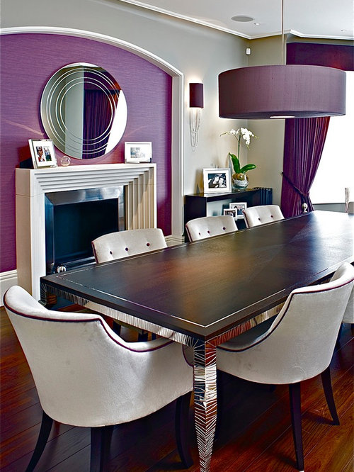 Best Purple Dining Room Design Ideas & Remodel Pictures | Houzz