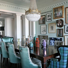 Eclectic Dining Room by Summer Thornton Design, Inc
