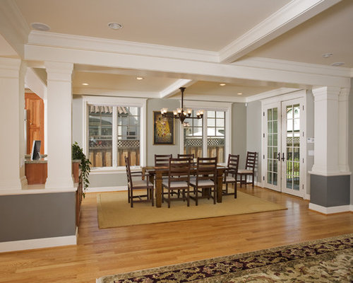 Dining Room Two Tone Paint Ideas craftsman two tone paint dining room design ideas, remodels & photos