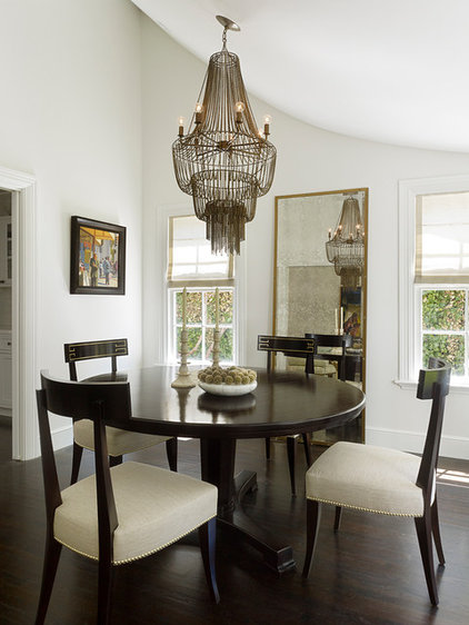 Transitional Dining Room by Kathleen Bost Architecture + Design