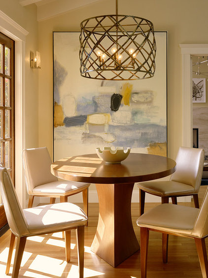 Transitional Dining Room by Coddington Design