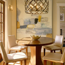 Transitional Dining Room by Melanie Coddington