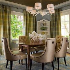 Transitional Dining Room by Coddington Design