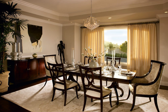 Traditional Dining Room by Suzanne Furst Interiors
