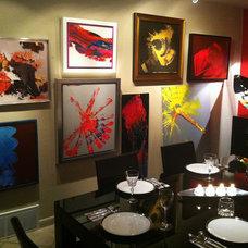 Contemporary Dining Room Pamela Nielsen Contemporary Art, Pamela Nielsen Home