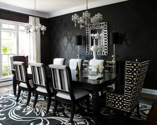 Black dining room design ideas renovations photos with for No dining room ideas