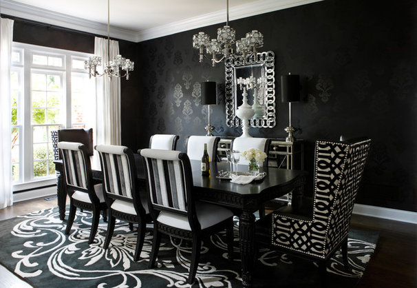 Contemporary Dining Room by Kristin Drohan Collection and Interior Design