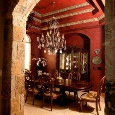 Mediterranean Dining Room by Silver Oak Interiors