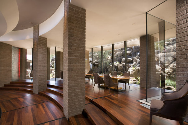 Contemporary Dining Room by Swaback Partners, pllc