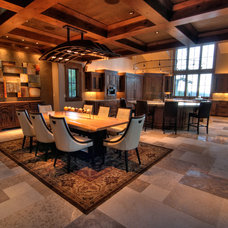 Contemporary Dining Room by Your Choice Custom Cabinets