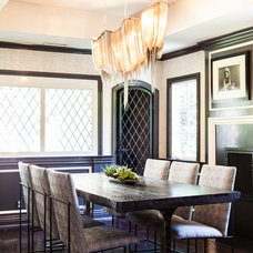Transitional Dining Room by FLO Design Studio