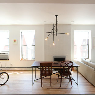 Park Slope Residence - Dining Room + Fireplace