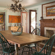 Rustic Dining Room by Fifer Renovations