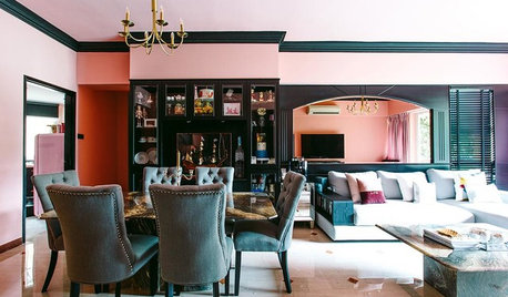 Houzz Tour: This Love Nest Goes Bold With A Classical Pink Theme
