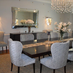 modern dining room by Anisa Interiors