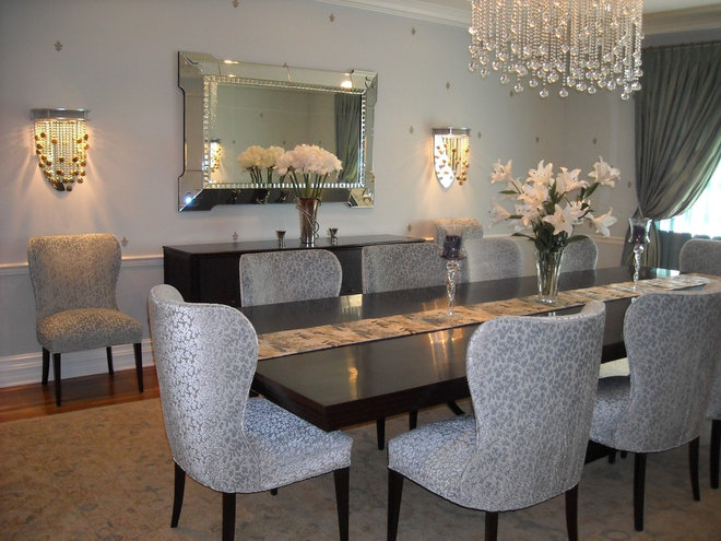 Transitional Dining Room by Anisa Interiors