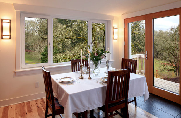 Transitional Dining Room by G. Christianson Construction, Inc.