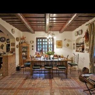 Dining room - mediterranean dining room idea in Other