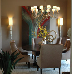 modern dining room by Valerie Davis