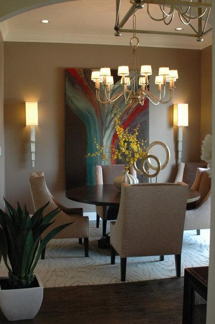 Modern Dining Room by Valerie Davis