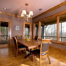 Traditional Dining Room by BlueStone Construction, LLC