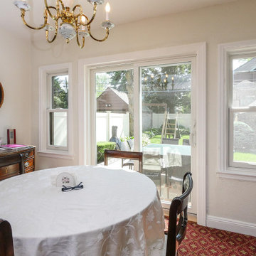 Patio Doors and New Windows in Attractive Dining Room