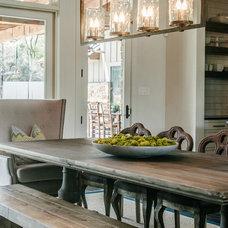 Transitional Dining Room by Van Wicklen Design