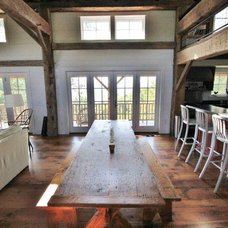 Traditional Dining Room by Green Mountain Timber Frames