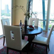 Contemporary Dining Room by Pearle Staging and Design